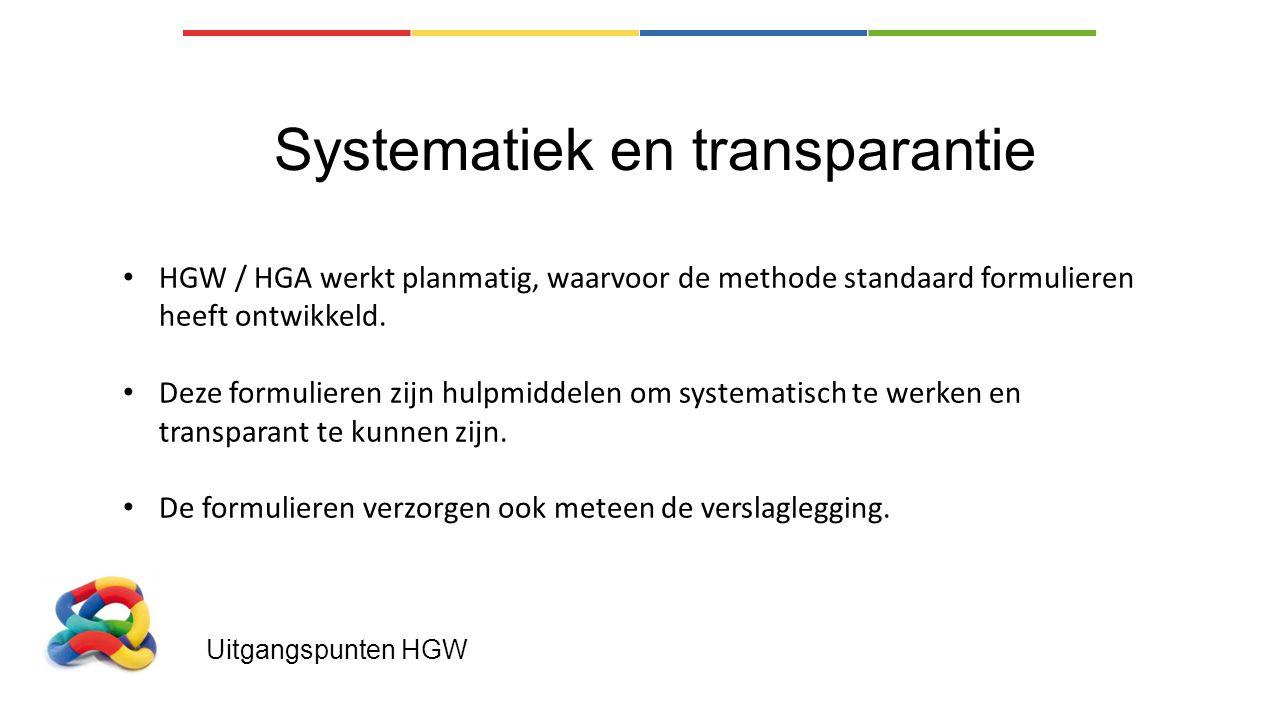 Systematiek en transparantie
