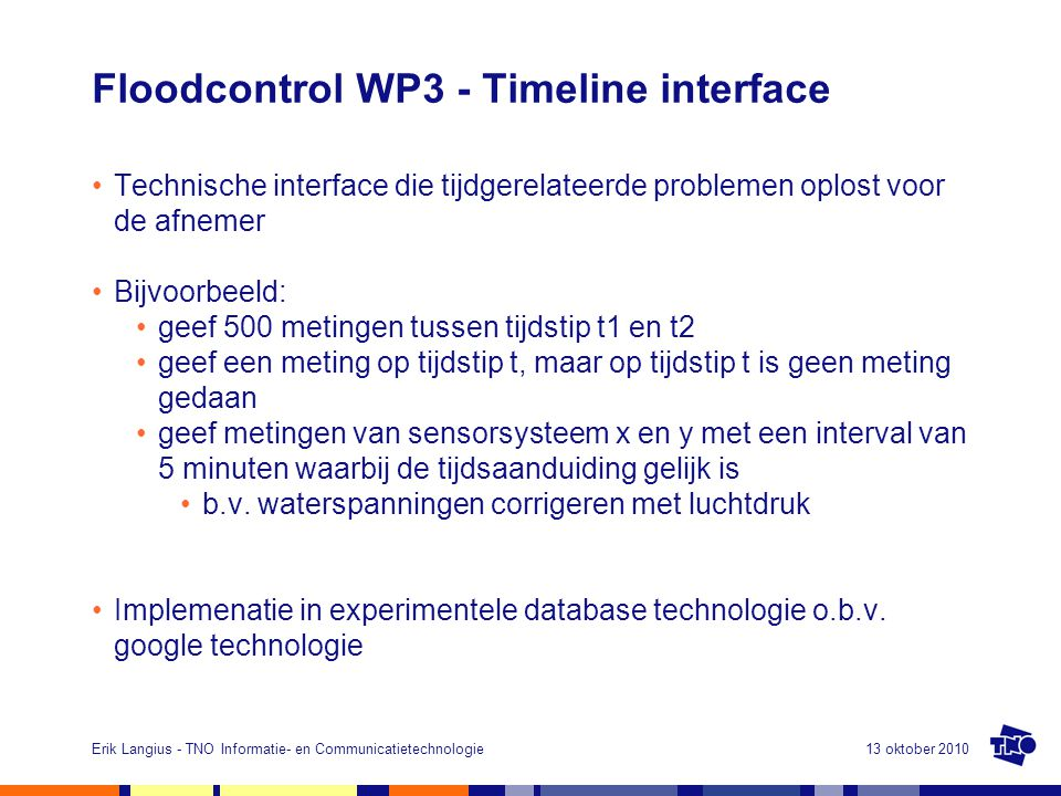 Floodcontrol WP3 - Timeline interface