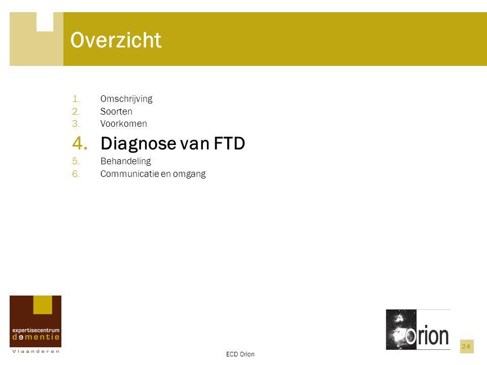 Overzicht Diagnose van FTD Omschrijving Soorten Voorkomen Behandeling