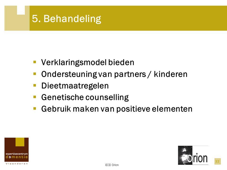 5. Behandeling Verklaringsmodel bieden