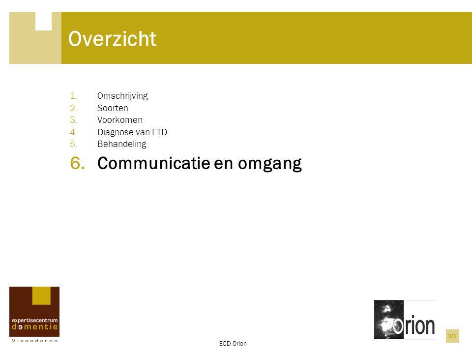 Overzicht Communicatie en omgang Omschrijving Soorten Voorkomen