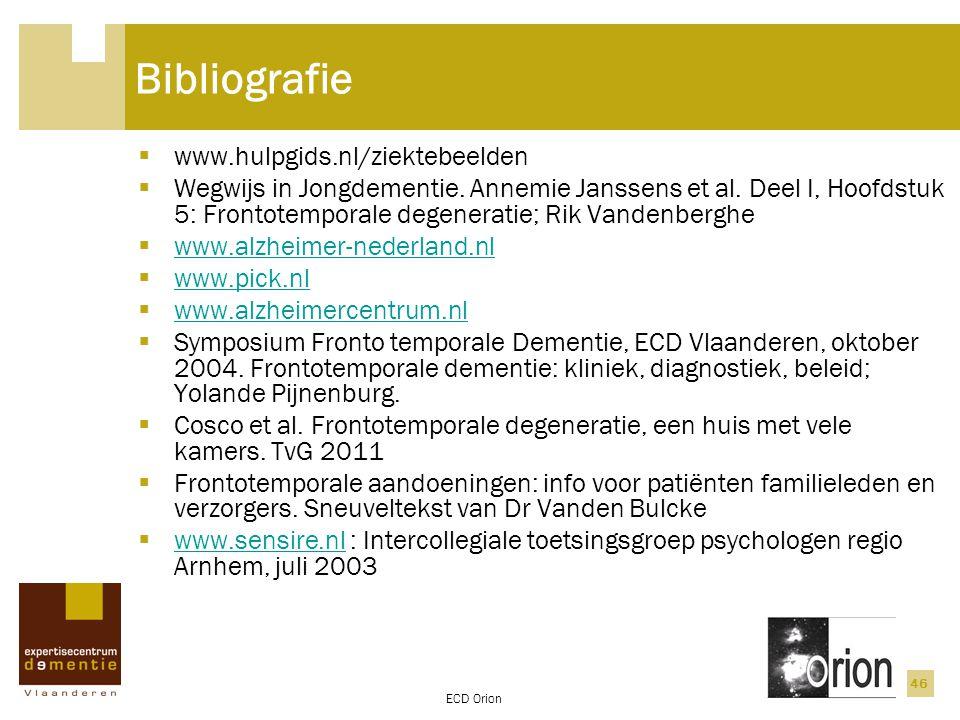 Bibliografie www.hulpgids.nl/ziektebeelden