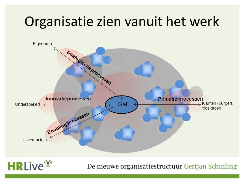 Organisatie zien vanuit het werk