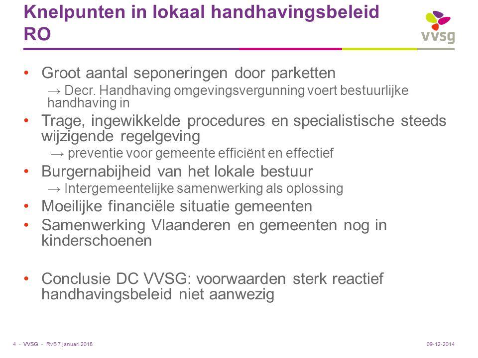 Knelpunten in lokaal handhavingsbeleid RO