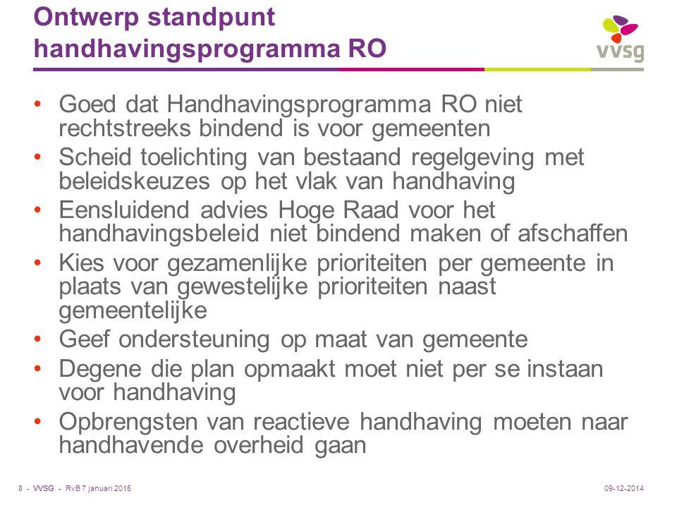 Ontwerp standpunt handhavingsprogramma RO