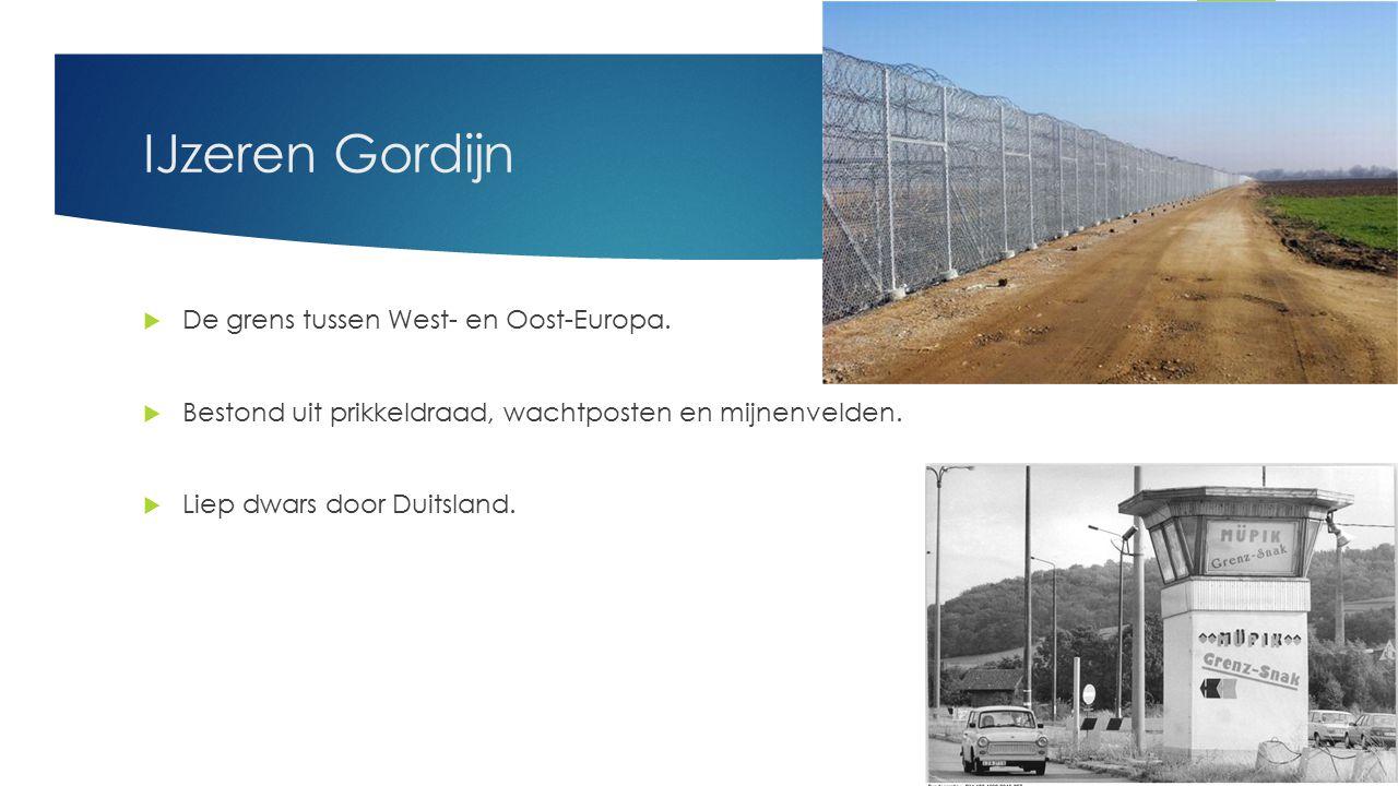 IJzeren Gordijn De grens tussen West- en Oost-Europa.