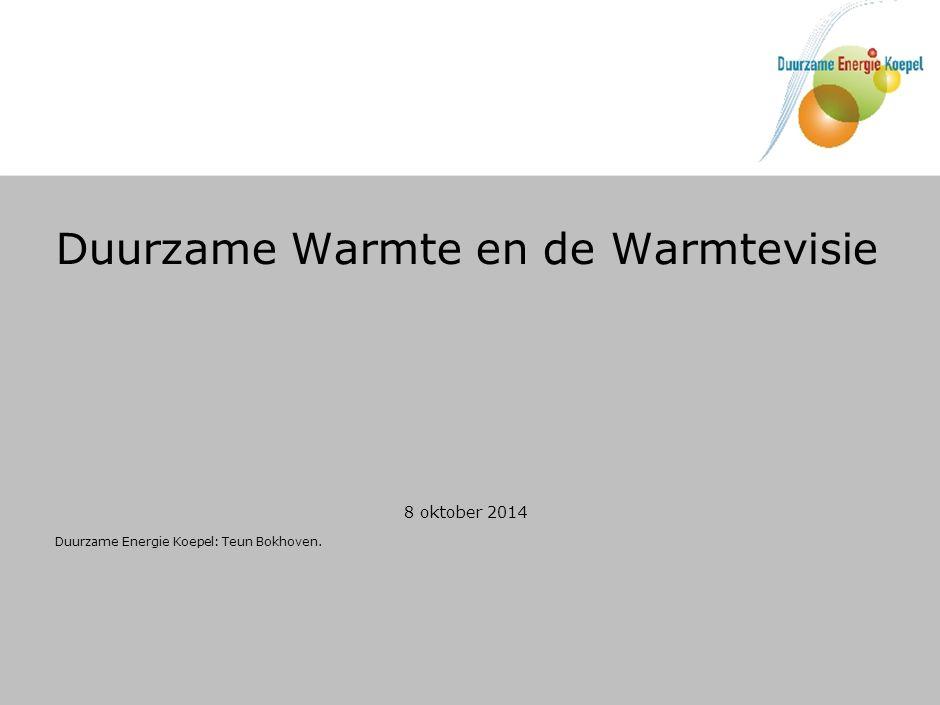 Warmtevisie EZ: nog werk in uitvoering