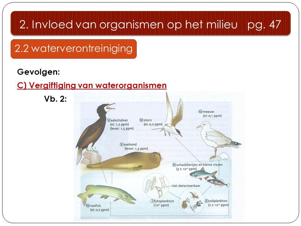 2. Invloed van organismen op het milieu pg. 47