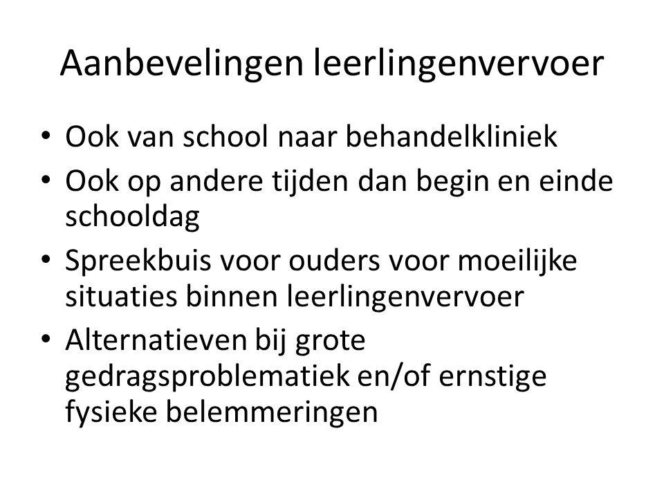 Aanbevelingen leerlingenvervoer