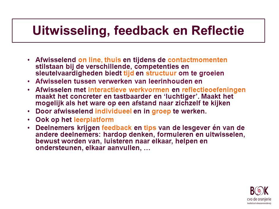 Uitwisseling, feedback en Reflectie