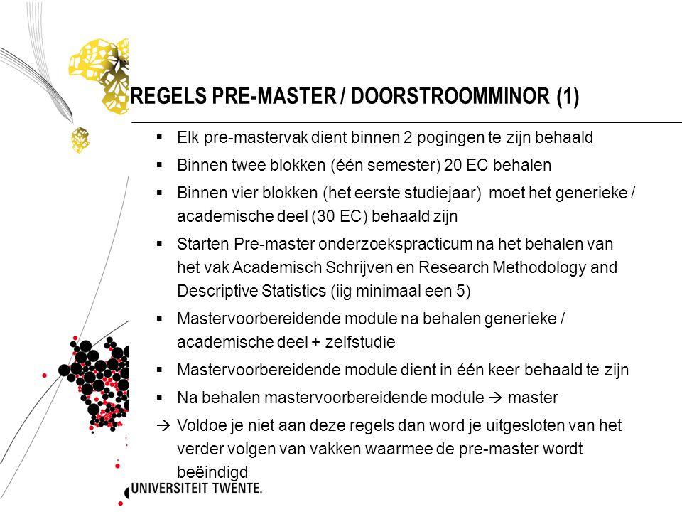 REGELS PRE-MASTER / DOORSTROOMMINOR (1)