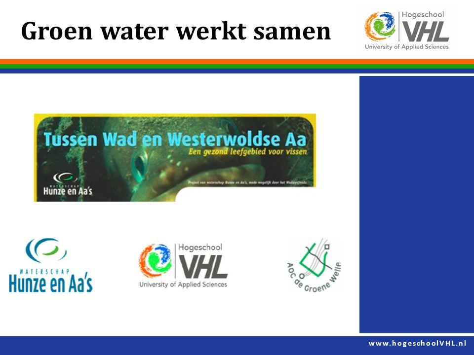 Groen water werkt samen
