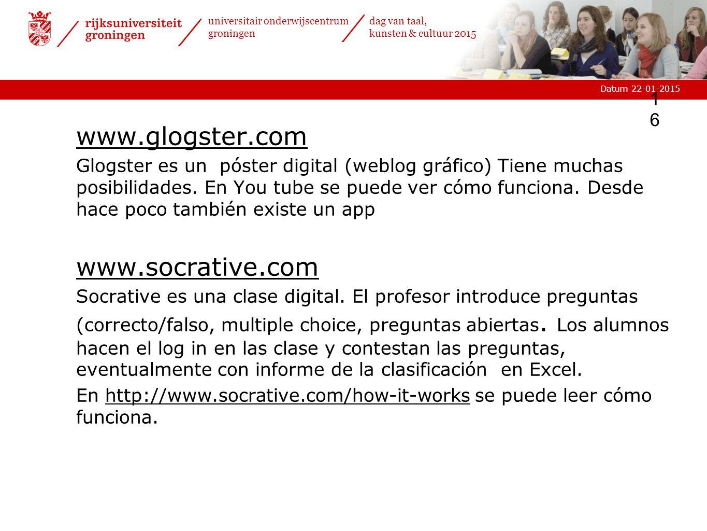 www.glogster.com www.socrative.com