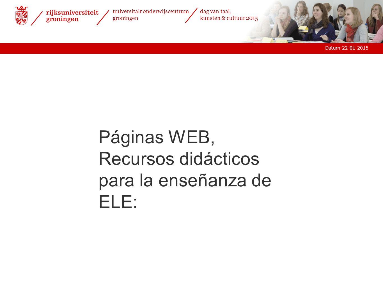 Páginas WEB, Recursos didácticos para la enseñanza de ELE:
