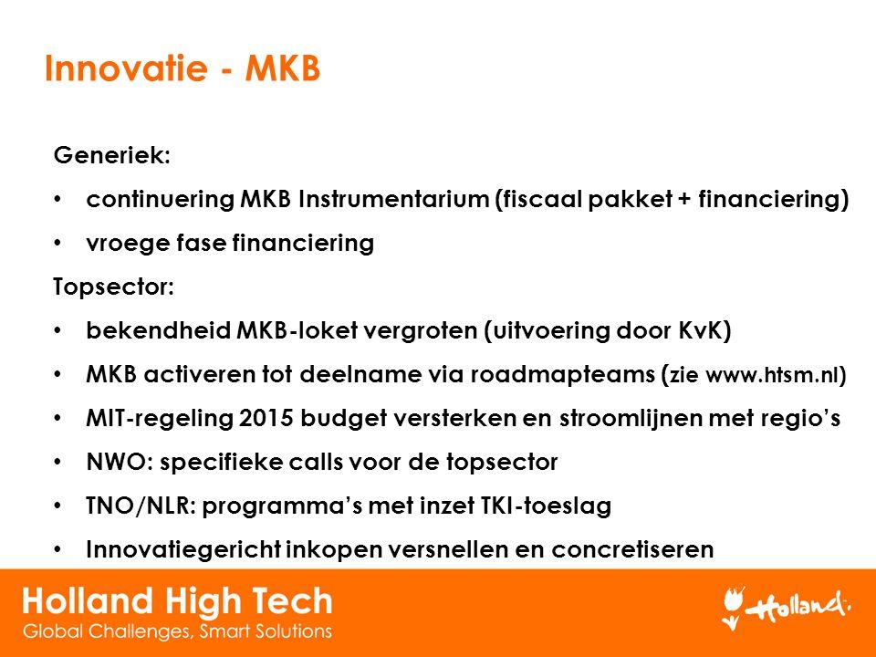 Innovatie - MKB Generiek: