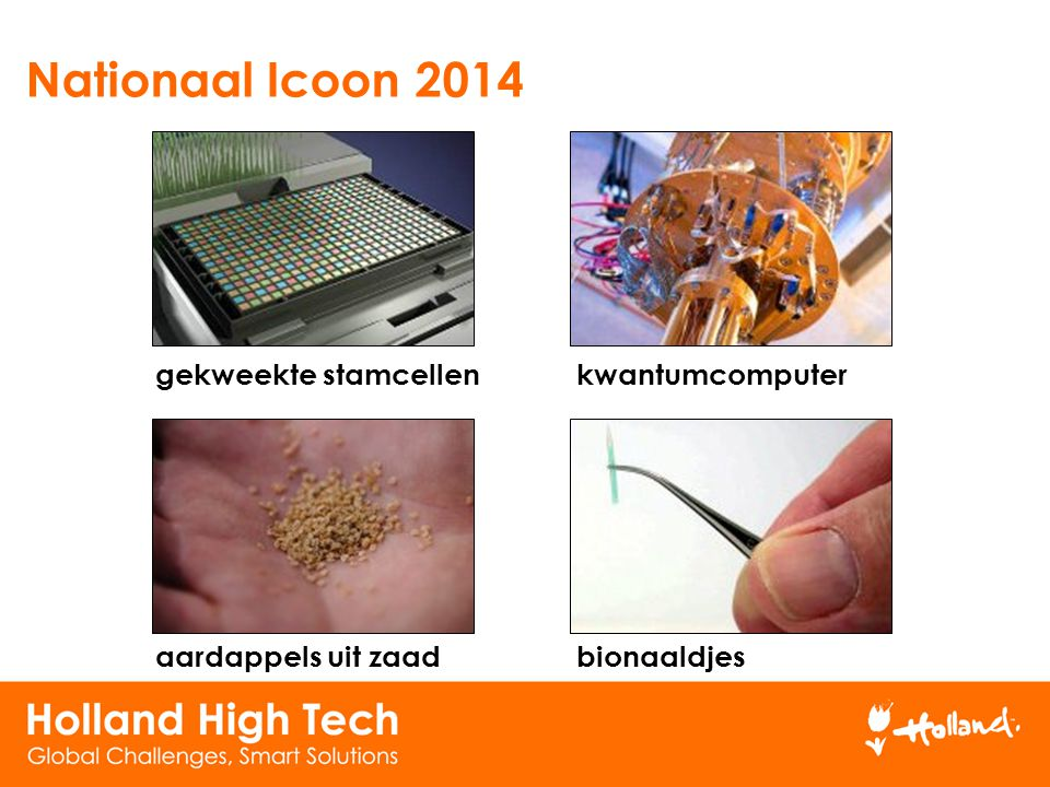 Nationaal Icoon 2014 gekweekte stamcellen kwantumcomputer