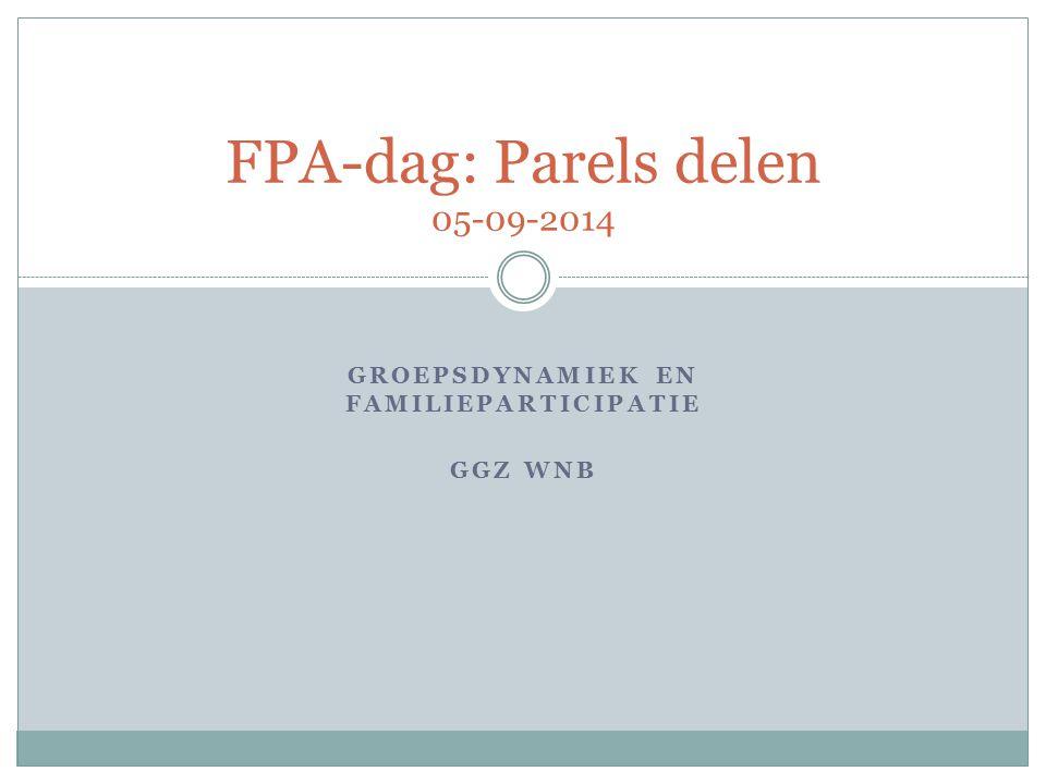FPA-dag: Parels delen 05-09-2014