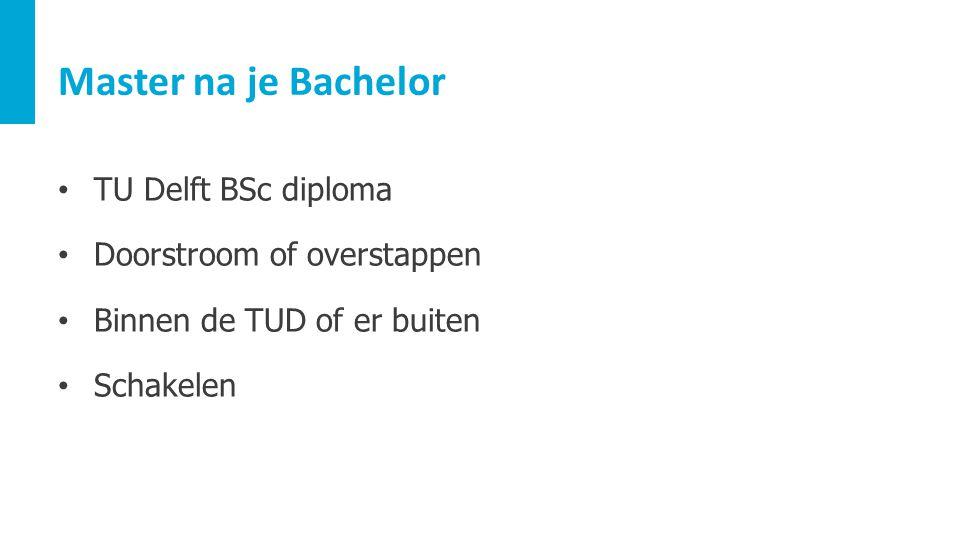 Master na je Bachelor TU Delft BSc diploma Doorstroom of overstappen