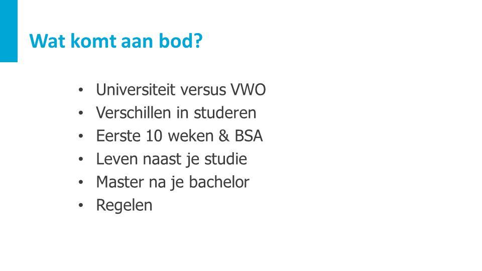 Wat komt aan bod Universiteit versus VWO Verschillen in studeren