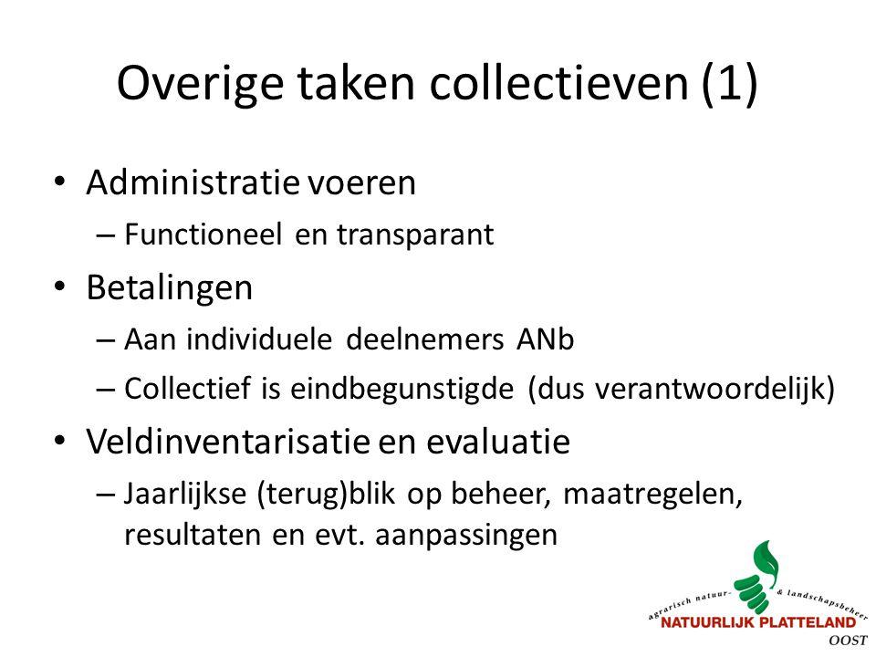 Overige taken collectieven (1)