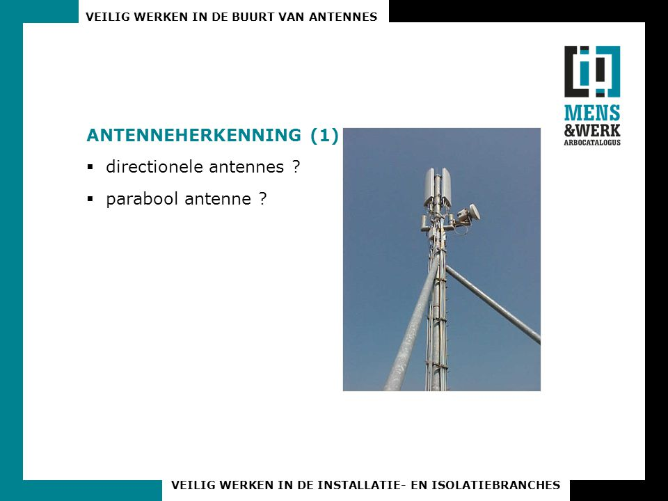 Antenneherkenning (1) directionele antennes parabool antenne