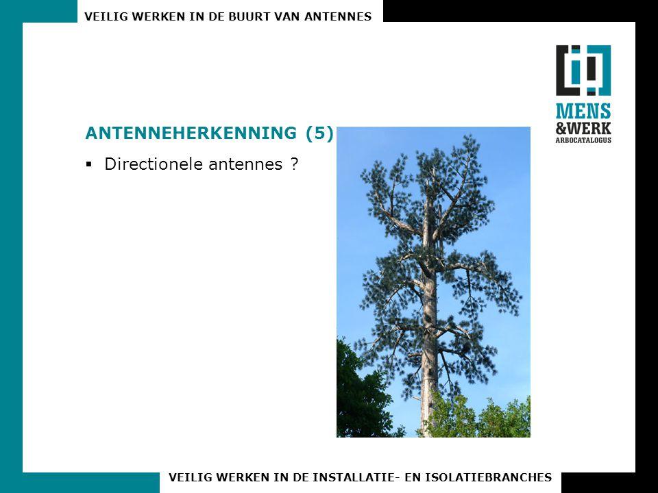 Antenneherkenning (5) Directionele antennes