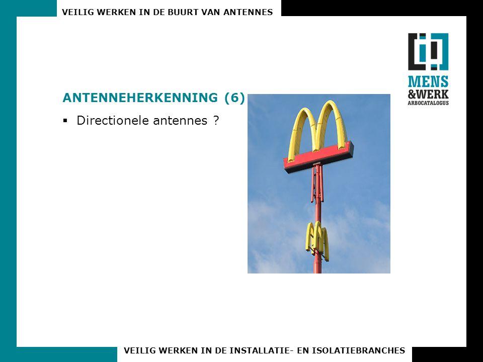 Antenneherkenning (6) Directionele antennes