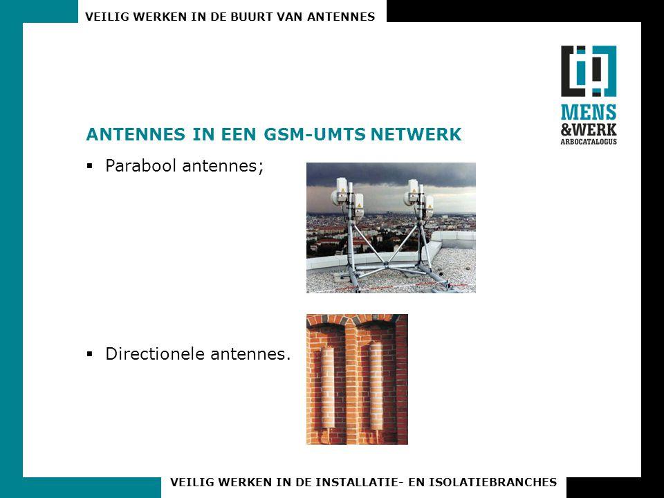 ANTENNES IN EEN GSM-UMTS NETWERK