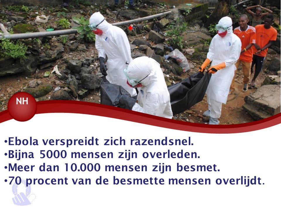 Ebola verspreidt zich razendsnel. Bijna 5000 mensen zijn overleden.