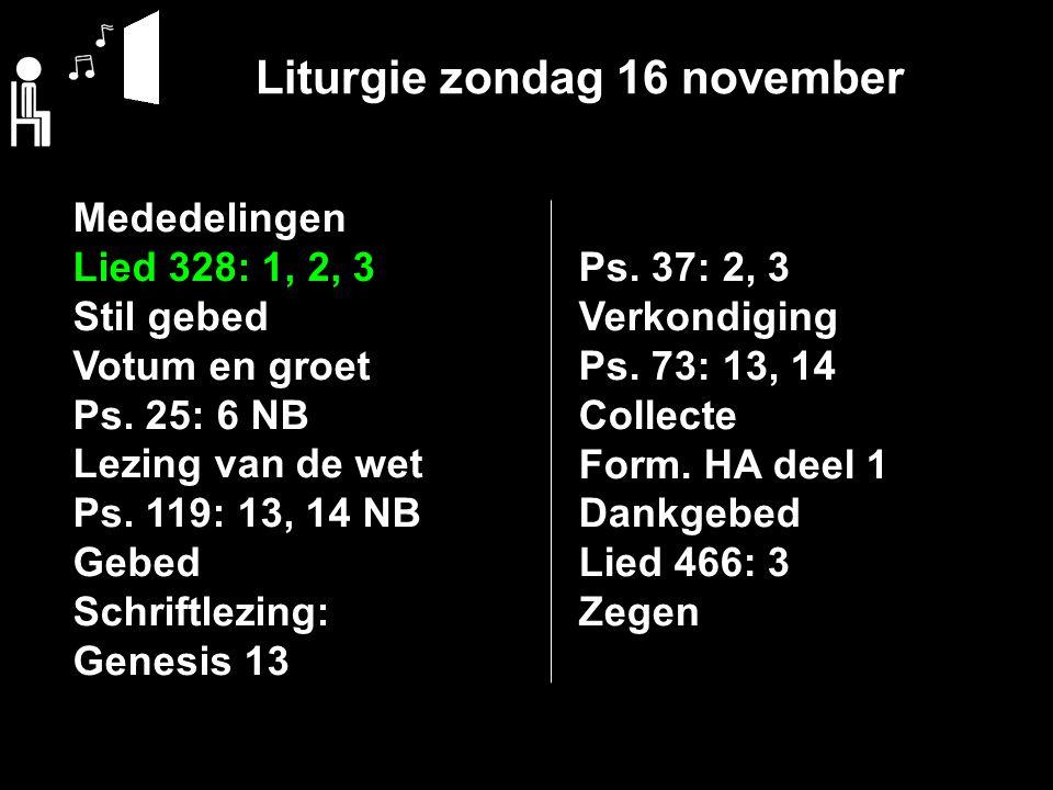 Liturgie zondag 16 november