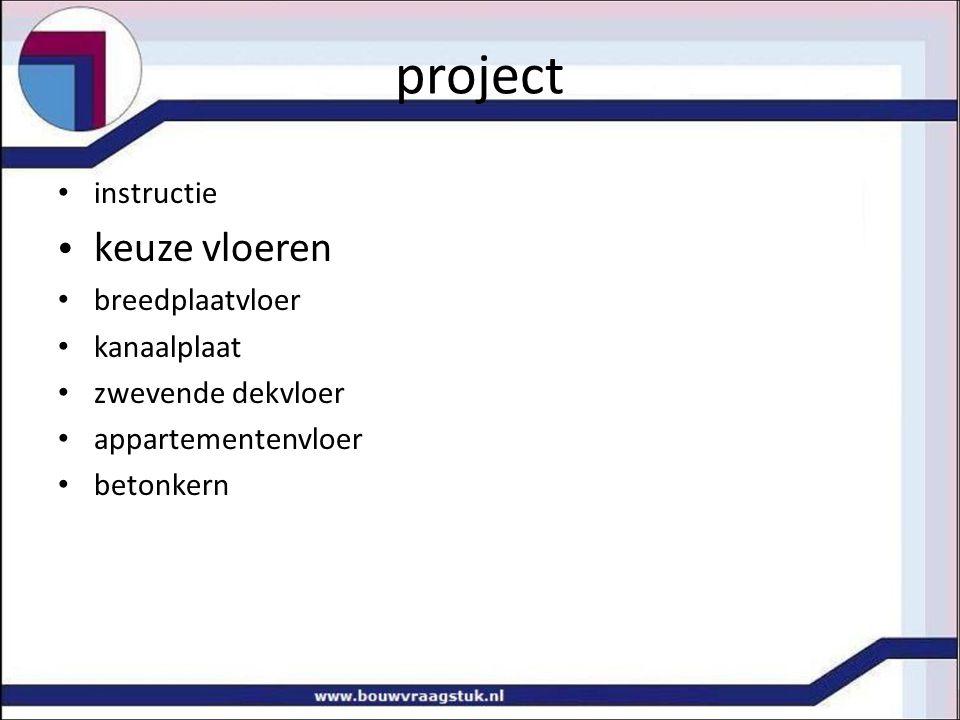 project keuze vloeren instructie breedplaatvloer kanaalplaat