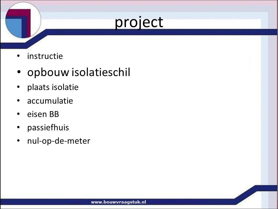 project opbouw isolatieschil instructie plaats isolatie accumulatie