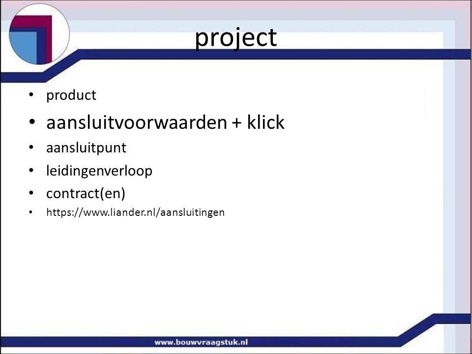 project aansluitvoorwaarden + klick product aansluitpunt