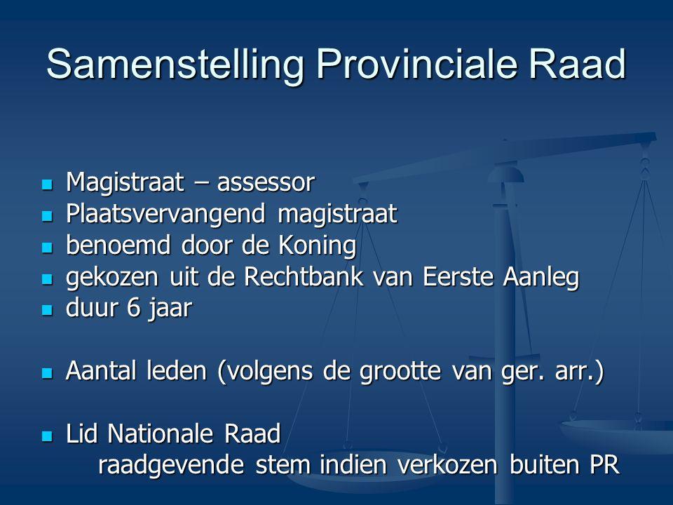 Samenstelling Provinciale Raad