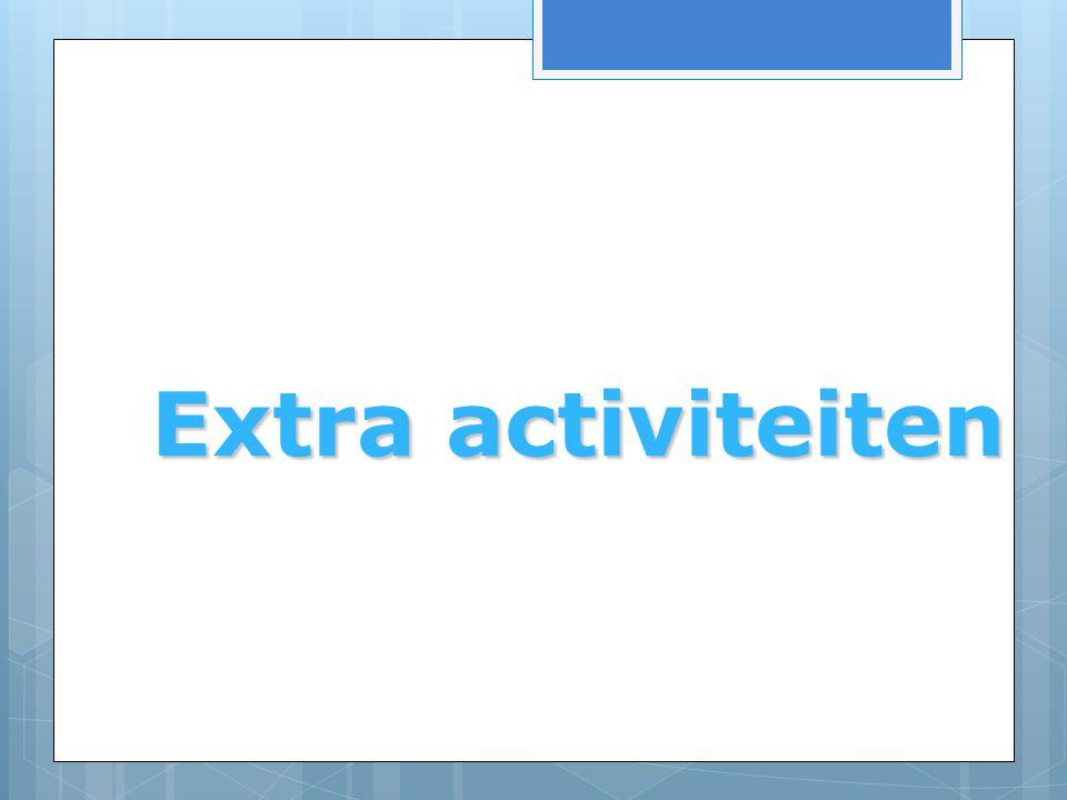 Extra activiteiten Extra