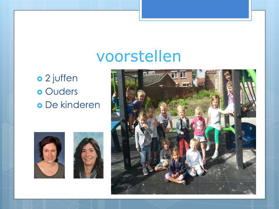 voorstellen 2 juffen Ouders De kinderen