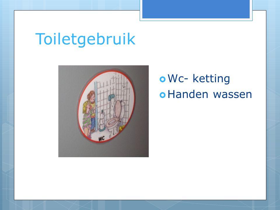 Toiletgebruik Wc- ketting Handen wassen WC kaartjes uitleg