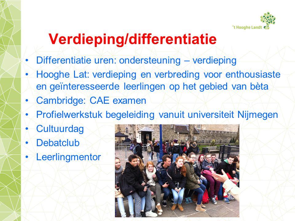 Verdieping/differentiatie