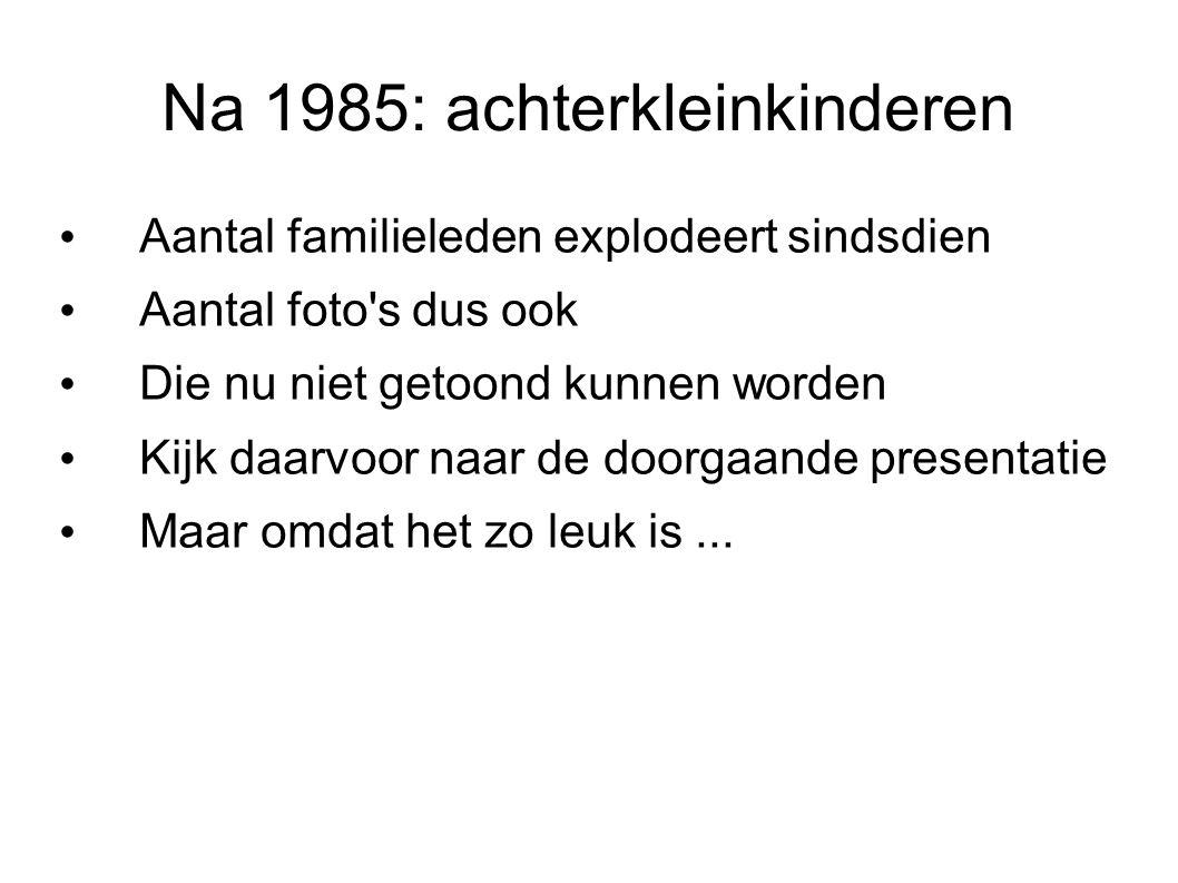 Na 1985: achterkleinkinderen