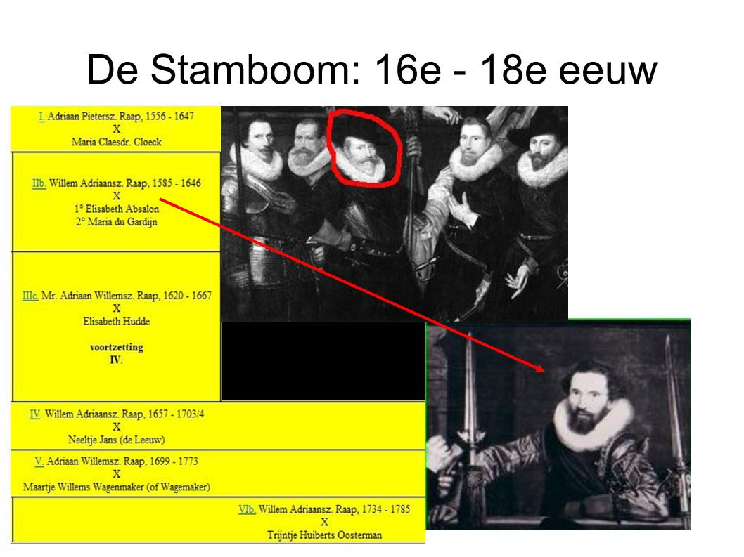 De Stamboom: 16e - 18e eeuw
