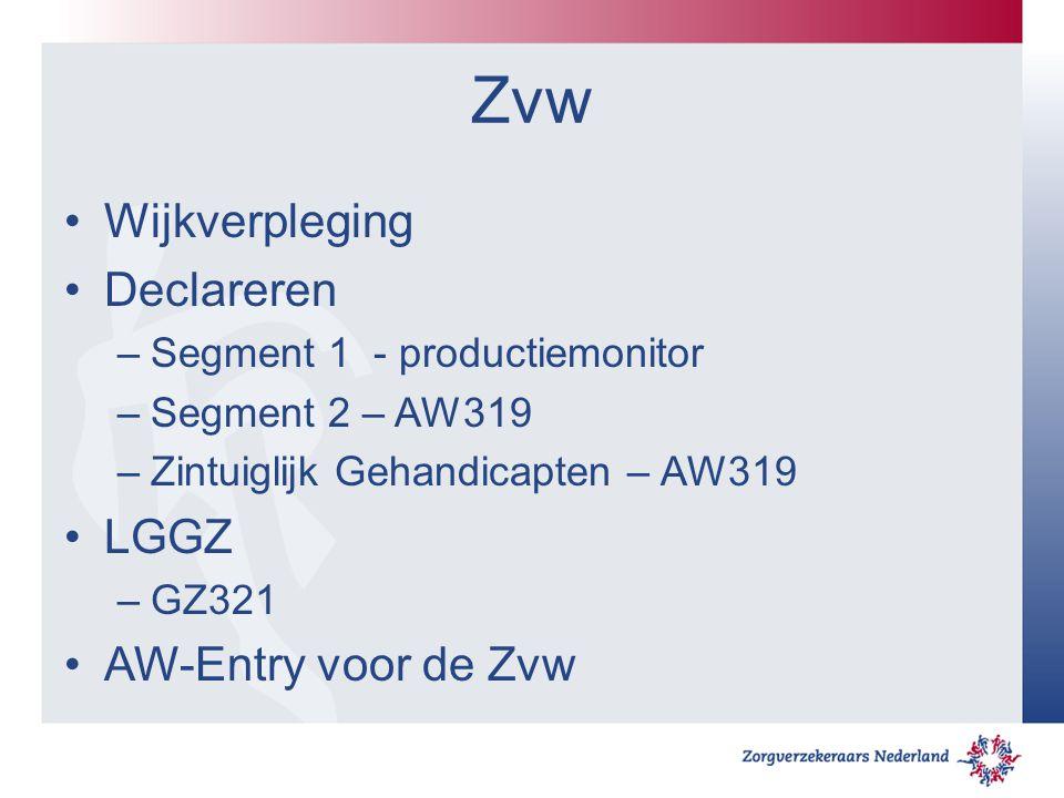 Zvw Wijkverpleging Declareren LGGZ AW-Entry voor de Zvw