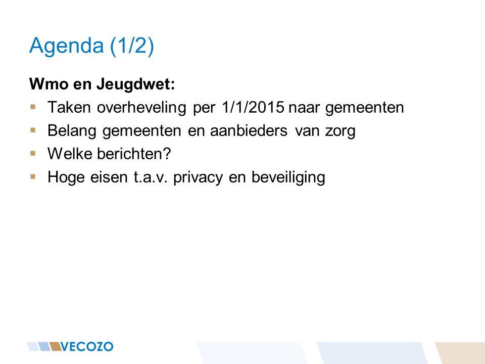 Agenda (1/2) Wmo en Jeugdwet: