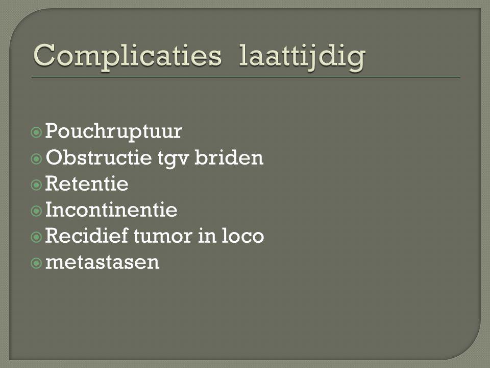 Complicaties laattijdig