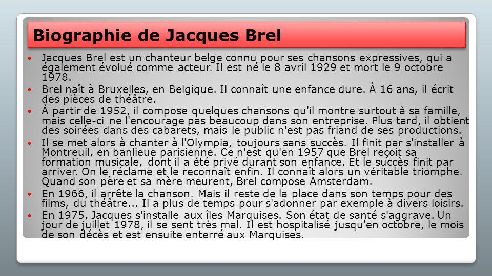 Biographie de Jacques Brel