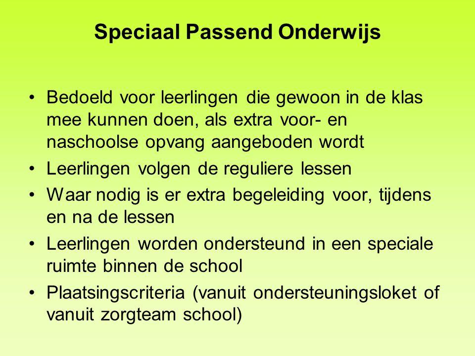 Speciaal Passend Onderwijs