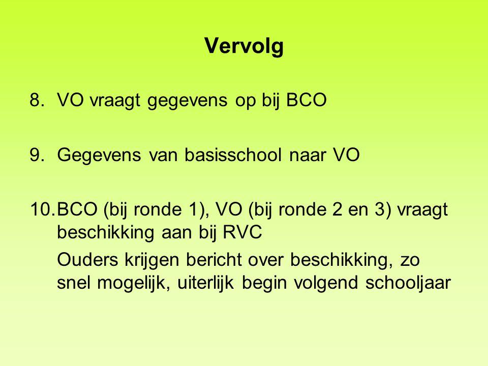 Vervolg VO vraagt gegevens op bij BCO Gegevens van basisschool naar VO