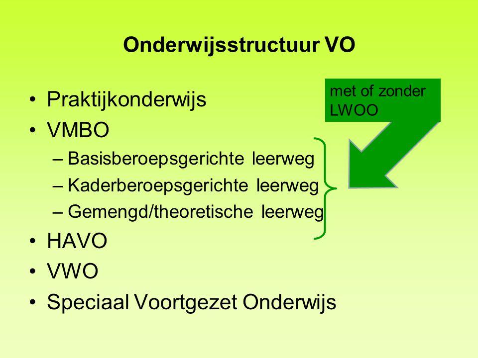 Onderwijsstructuur VO