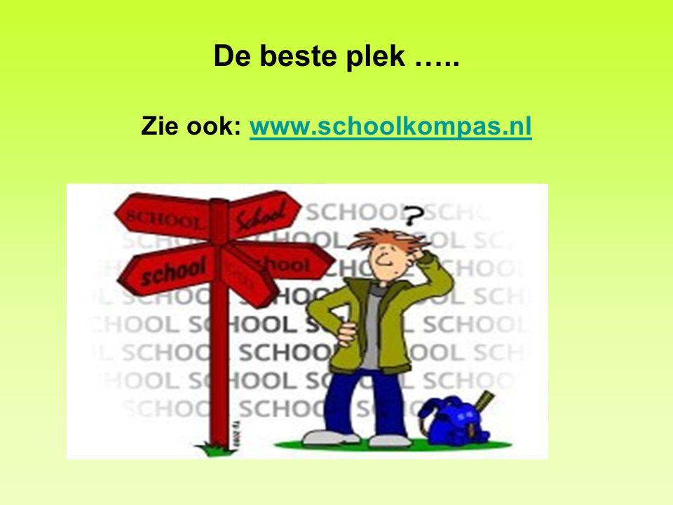 De beste plek ….. Zie ook: www.schoolkompas.nl