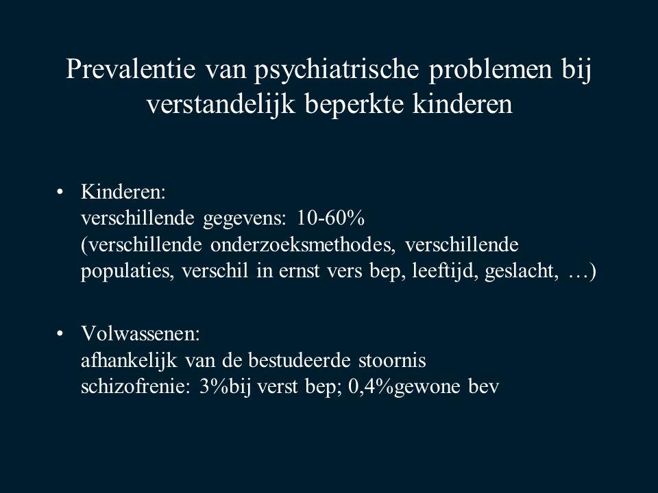 Prevalentie van psychiatrische problemen bij verstandelijk beperkte kinderen