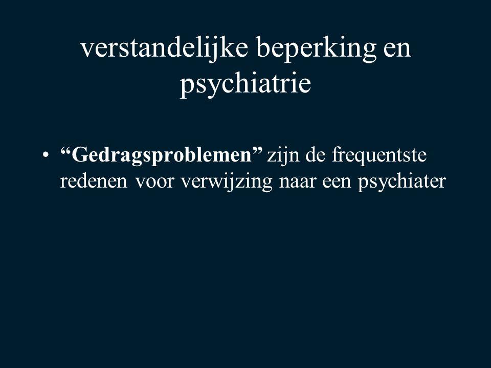 verstandelijke beperking en psychiatrie